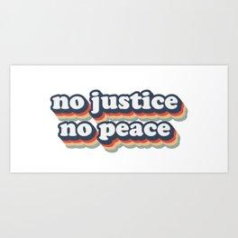 No Justice No Peace BLM 2020 Art Print