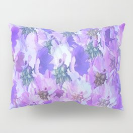 Painterly Glowing Floral Abstract Pillow Sham