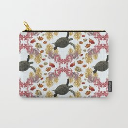 Coral Diamonds Carry-All Pouch