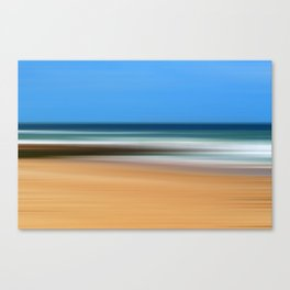 Boscombe Beach Abstract Canvas Print