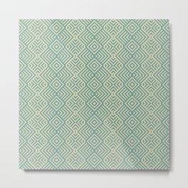 Large Geometric Diamond Pattern Metal Print