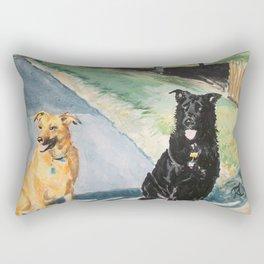 Excitedly Waiting Rectangular Pillow