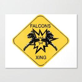 Falcons Xing Canvas Print