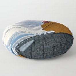 Lighthouse at the Point Floor Pillow