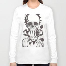 El mordisco de la calavera Long Sleeve T-shirt