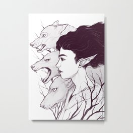 Wolf Witch - Wolf Spirit Animal Metal Print