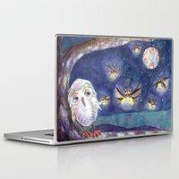fireflies Laptop & iPad Skins featuring Fireflies by Tina Schofield