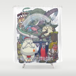 Monsters of the King II Shower Curtain