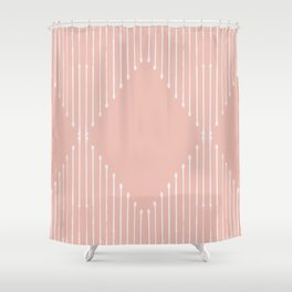 Geo / Blush Shower Curtain