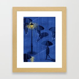 RAINY NIGHT Framed Art Print