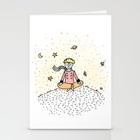 the little prince Stationery Cards featuring Little Prince by nelasnow