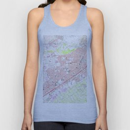 Vintage Map of Riverside California (1967) 2 Unisex Tank Top