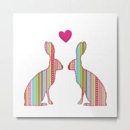 Hares Metal Print