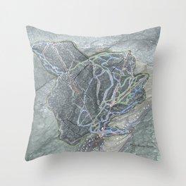 Mad River Glen Resort Trail Map Throw Pillow