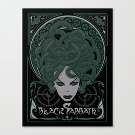 Steampunk Medusa Canvas Print