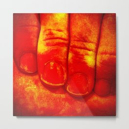 Dedos Rojos Metal Print
