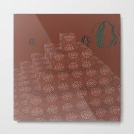 Pyramide Grotesque 20 Metal Print