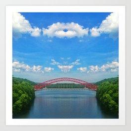 REFLECTED BRIDGE Art Print