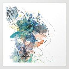 Blue Botanica Art Print