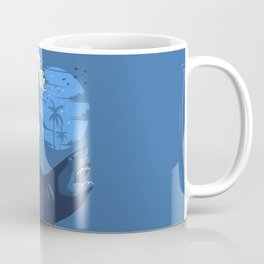 Wave megalodon Coffee Mug