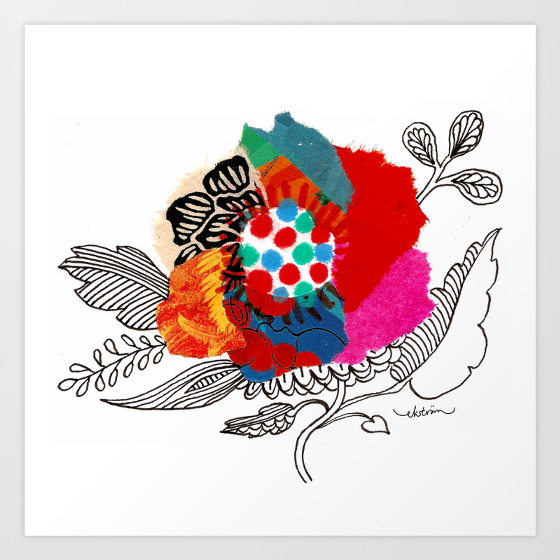 Mina Flower Art Print By Lisaeks Society6