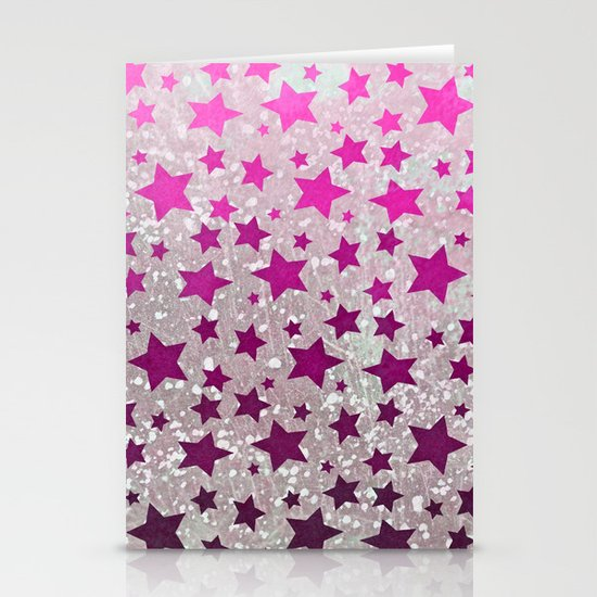 All Stars...Galaxy Pink Stationery Cards