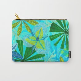 My blue abstract Aloha Tropical Jungle Garden Carry-All Pouch