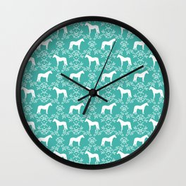 Horse silhouette pet farm animal floral pattern gifts decor horses Wall Clock