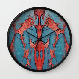 Kaleidoscopic weathered color structure Wall Clock