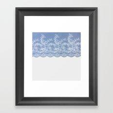 Lace #Blue Framed Art Print