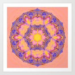 Delicate kaleidoscope in the colors of summer Art Print