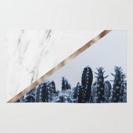 Cool marble desert blooms Rug