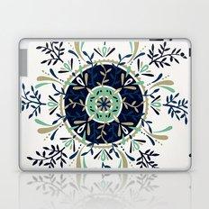 Leaf Mandala – Navy & Mint Palette Laptop & iPad Skin