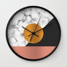 Marble & metals Wall Clock
