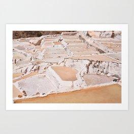 Maras Salt Mines Art Print