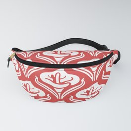 Calla Lily Pattern Red Fanny Pack