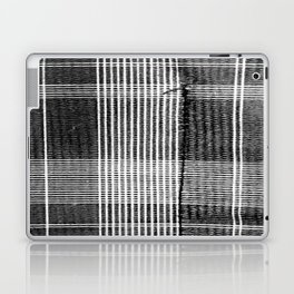 Stitched Plaid in Black and White Laptop & iPad Skin
