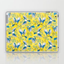 Flying Birds and Oak Leaves on Yellow Laptop & iPad Skin