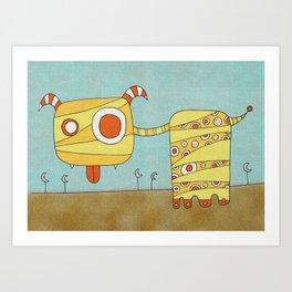 Yellow Blah Art Print