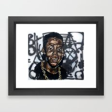 young hov Framed Art Print