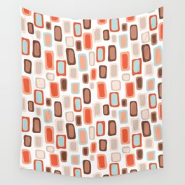 Retro Rectangles Wall Tapestry