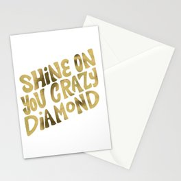 Shine On You Crazy Diamond – Gold Palette Stationery Cards