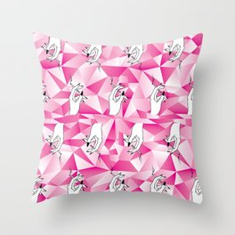 Crystal Smoke Throw Pillow