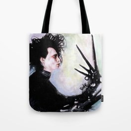 Edward Scissorhands: The story of an uncommonly gentle man. Tote Bag