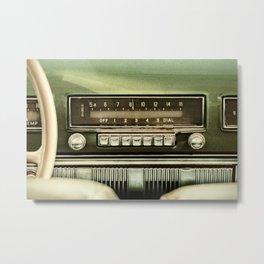 The Vintage Car Radio Metal Print
