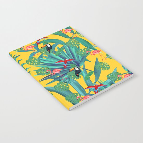 tropical yellow Notebook
