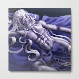 Undertaker in Blue Metal Print