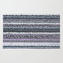Gray Lavender Aqua Carpet Stripes Rug