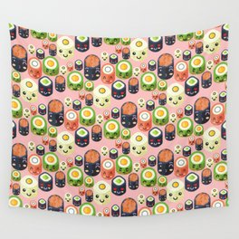 Cute Sushi Wall Tapestry