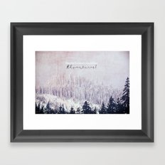 Blessed are the Curious Framed Art Print
